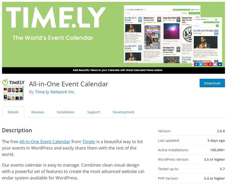best-wordpress-events-plugins-the-even-all-in-one-event-calendar