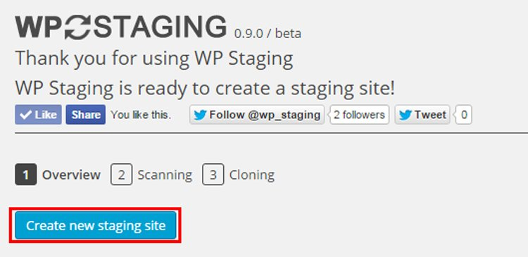how to easily create staging site wordpress before publishing new updates wp staging create staging site