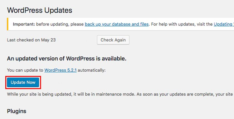 what causes the wordpress and mysql error and how to fix it update wordpress core