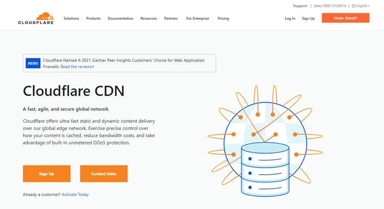 best free cdn services speed up wordpress website cloudflare cdn