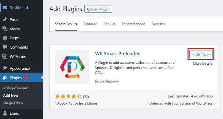 how to create a wordpress preloader wp smart preloader install