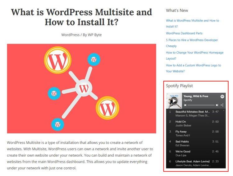 how to embed spotify playlist wordpress spotify playlist embed post example