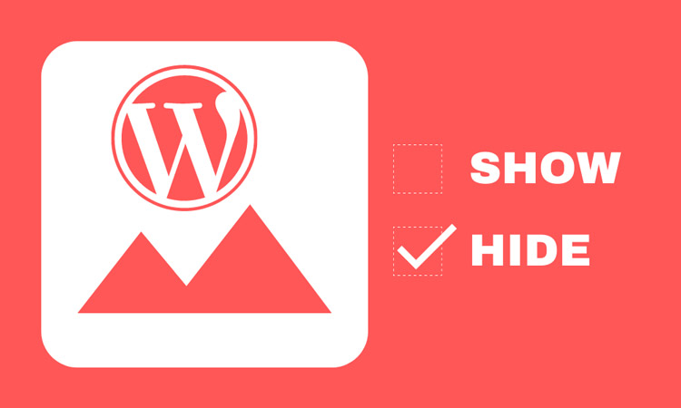 how to hide featured image in post wordpress featured image